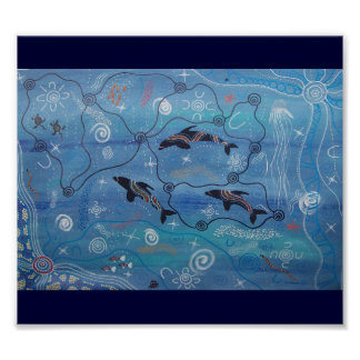 Dolphin Dreaming Poster by Mundara