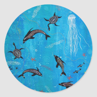 Dolphin Dreaming Round Sticker