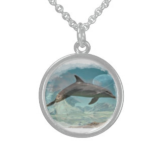 Dolphin dreams with the earth necklace