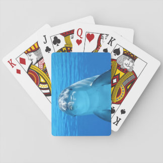 Dolphin face up close playing cards