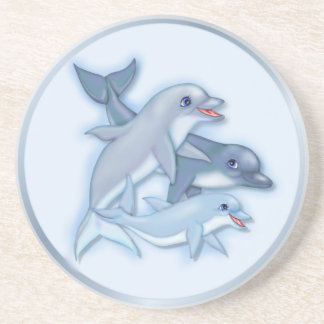 Dolphin Family Beverage Coasters