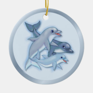 Dolphin Family Christmas Ornament