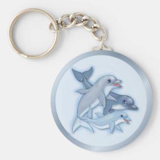 Dolphin Family Key Ring