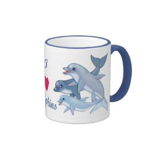 Dolphin Family Ringer Mug