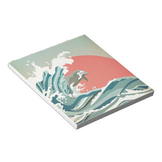 Dolphin happiness notepad