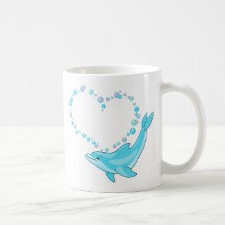 Dolphin Heart Coffee Mugs