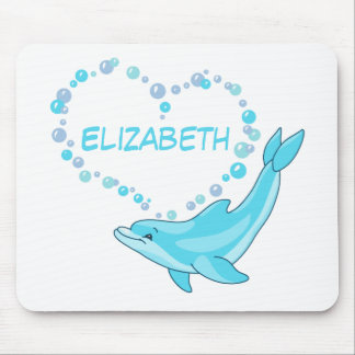 Dolphin Heart Personalized Mouse Pad
