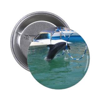 Dolphin Hoop 6 Cm Round Badge