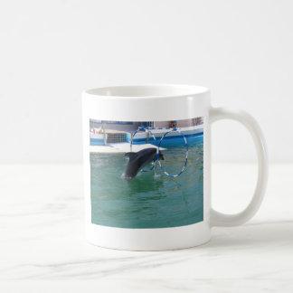 Dolphin Hoop Basic White Mug