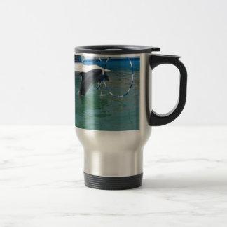 Dolphin Hoop Stainless Steel Travel Mug