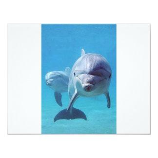 dolphin II 11 Cm X 14 Cm Invitation Card