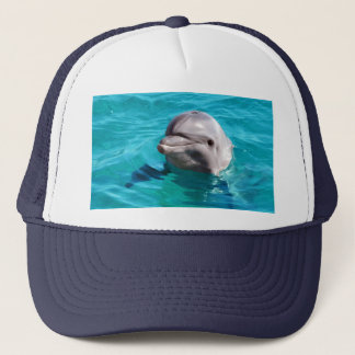 Dolphin in Blue Water Photo Trucker Hat