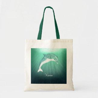 Dolphin in Emerald Sea Tote Bag