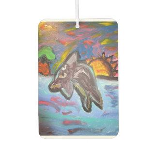 dolphin in sunset car air freshener