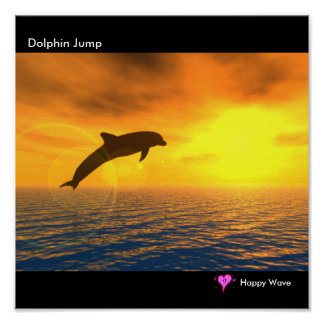 Dolphin Jump Poster