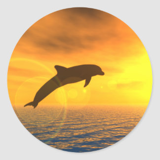 Dolphin Jump Sticker