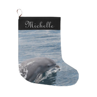 Dolphin Large Christmas Stocking