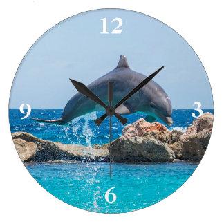 Dolphin Large Clock