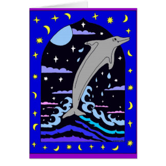 """Dolphin """"Leap for the Stars"""" Card"""