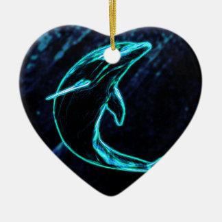 Dolphin (Light Dolphin) Christmas Ornament