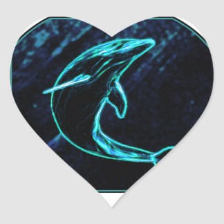 Dolphin (Light Dolphin) Heart Sticker