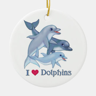 Dolphin Love Christmas Ornament