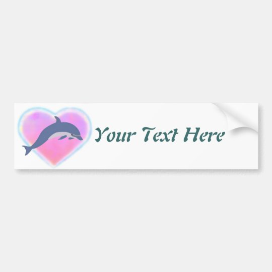 Dolphin Love custom Bumper Sticker