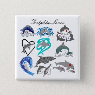Dolphin lover button