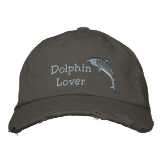 Dolphin Lover Ocean Sea Mammal Embroidered Hat
