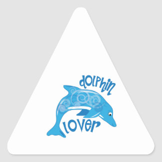 Dolphin Lover Triangle Sticker