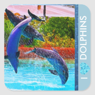 Dolphin Lovers Stickers