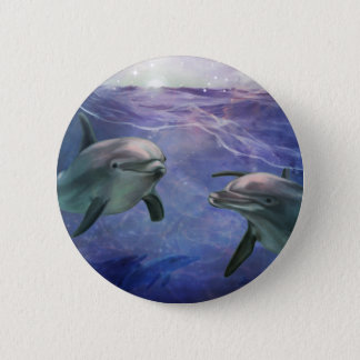Dolphin Magic 6 Cm Round Badge