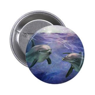 Dolphin Magic 6 Cm Round Badge