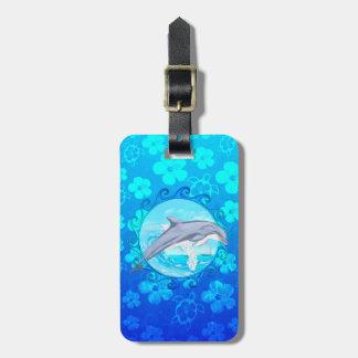 Dolphin Maori Sun Luggage Tag
