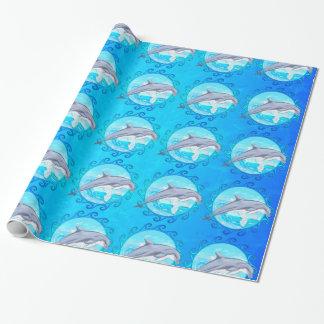 Dolphin Maori Sun Wrapping Paper