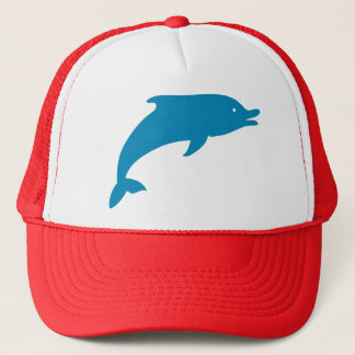 Dolphin Marine Mammals Fish Ocean Blue Animal Trucker Hat
