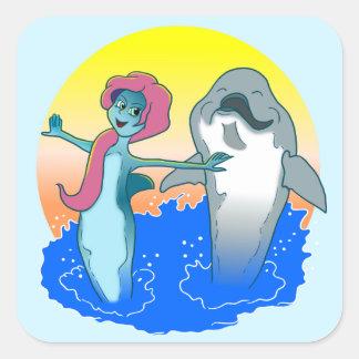 Dolphin Mermaid sticker