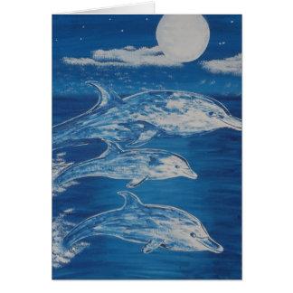 Dolphin Midnight Swim Greeting Card