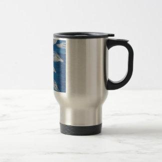 Dolphin Midnight Swim Coffee Mugs