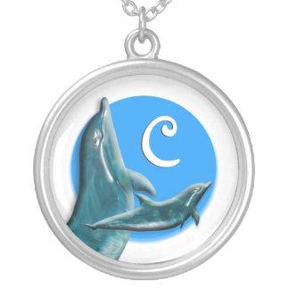Dolphin monogram necklaces