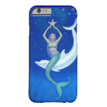 Dolphin Moon Mermaid Fantasy Art iPhone 6 case Barely There iPhone 6 Case