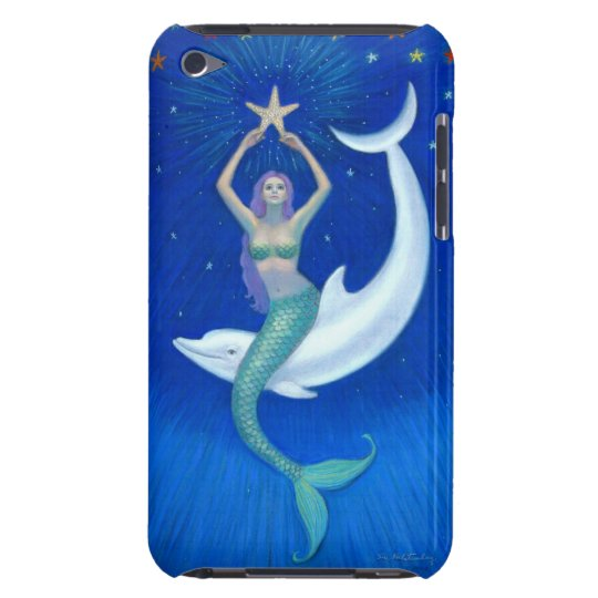 Dolphin Moon Mermaid iPod Touch Case