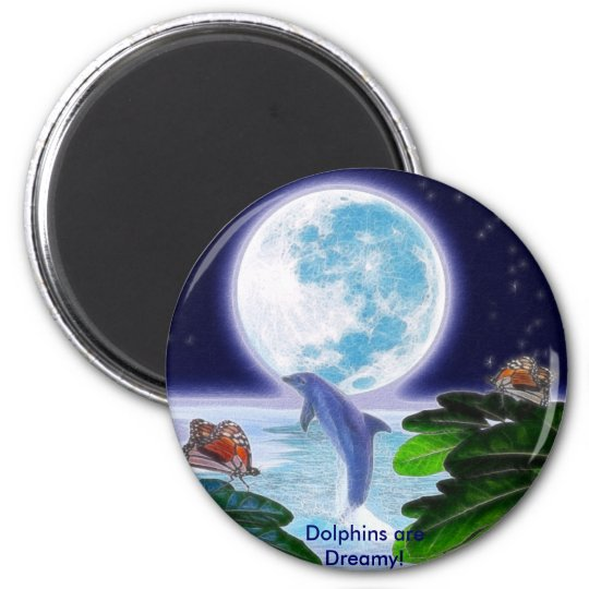 DOLPHIN MOON Paradise Art Series Magnet
