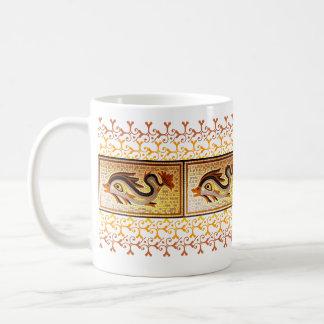 Dolphin - Mosaic Basic White Mug