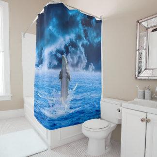Dolphin Ocean Storm Shower Curtain