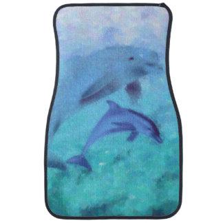 Dolphin Painting Car Mats Floor Mat