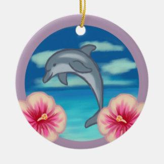 Dolphin Paradise Round Ceramic Decoration
