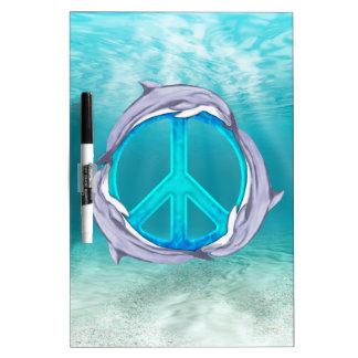 Dolphin Peace Dry Erase Board