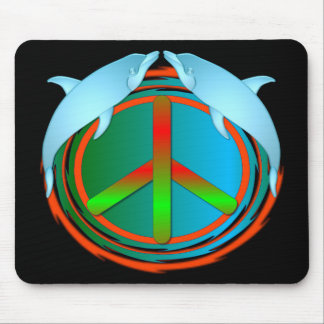 Dolphin Peace Mouse Pad