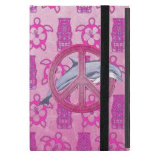 Dolphin Peace Pink iPad Mini Cover